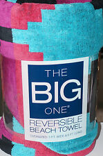 THE BIG ONE Reversible Beach Towel 3ft x 6ft Multi Dot Pattern New With Tags