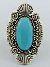Navajo Sterling Silver Handmade Turquoise RIng - M&R Calladitto