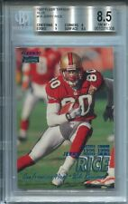1997 Fleer Tiffany Blue #18 Jerry Rice  BGS 8.5 w/subs 9,8,9,9.5