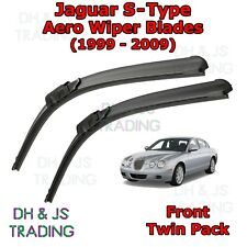 """Jaguar S-TYPE 2002-2007 Heyner super plat qualité Balais d/'essuie-glace 24/"""" 19/"""" Lot de 2"""