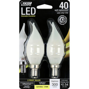 FEIT Electric 45 watts CA10 LED Bulb 300 lumens Soft White Decorative 40 Watt