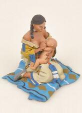 Black Hawk Far West Indians Mother Feeding Baby FW205 Painted Metal Figure