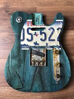 Pistols Crown Guitars Barncaster Telecaster Relic BODY ONLY Turquoise