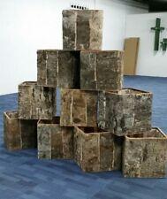 Cuadrado de madera Plantas Flores Plantador Cesta Pot-planta de madera Envase Caja De Bañera