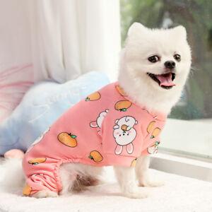 Small Medium Pet Dog Jumpsuit Pajamas Cute Clothes Puppy Cat Coat Homewear XS M