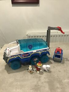 Paw Patrol Snow Rescue Artic Terrain Rescue Vehicle with Marshall Pup Sounds