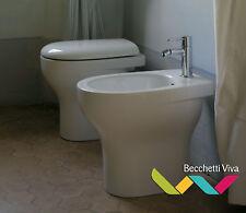 SANITARI A TERRA GLOBO SERIE GRACE 50.36 - VASO WC + SEDILE + BIDET