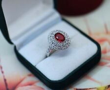 Vintage Jewellery Ring Ruby White Sapphires Antique Art Deco Jewelry Q1/2