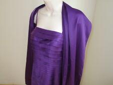 JS Collections Dress- Purple Ribbon Pleat Lined-Wrap Stole- Size 6  NWOT #C89