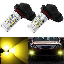 Alla Lighting 2x 3000K H10 9145 Gold Yellow 3030 SMD LED Fog Driving Light Bulbs