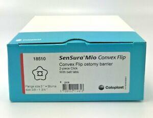 "5 Coloplast SenSura Mio 18510 Barriers 2"" Flange You Cut To 3/8 - 1 3/4"" Ex 2022"