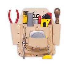 CLC W438 Custom LeatherCraft 6 Pocket Leather Electrician Tool Belt Pouch w/Clip