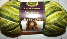 New listing Lion Brand Color Waves #205 Green Apple 3.5 oz 100 g 306 yd Acrylic Wool #3