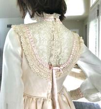 Vtg 70s Formal Peasant Gown/Prom Dress w/Bustle. Victorian/Edwardian/Lolita.
