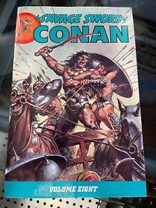 Savage Sword of Conan Volume 8 Dark Horse Deluxe TPB RARE HTF Roy Thomas
