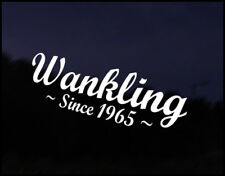 Wankling Rotary Mazda JDM Funny Car Decal Vinyl RX7 RX8 Wankle