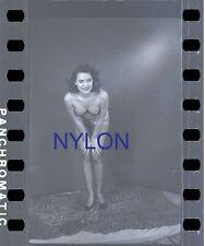 RARE AND UNIQUE NUDE JUNE KING 1950's 35mm NEGATIVE