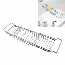 Adjustable Chrome Bathroom Bath Tub Rack Tray Holder Storage Caddy Organiser