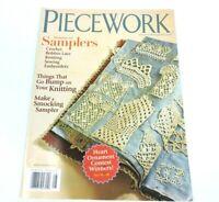 Piecework Magazine Jul/Aug 2010 Samplers Smocking Crochet Bobbin Lace Embroidery