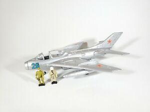 "1997 Galoob Battle Squads MiG-19 ""Farmer"" with Figures No Box"