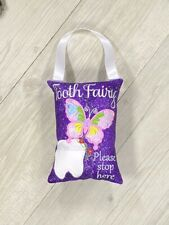 Tooth Fairy Pillow Butterfly Lost Tooth Pocket Cushion Birthday Gift