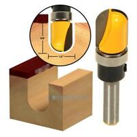"1/4"" Shank 5/8"" Diameter Ball Round Nose Router Bit Set Wood Milling Cutter Tool"