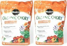 (2) Miracle Gro Organic Choice Potting Mix For Container Plants 8 Dry Qt (8.8 L)