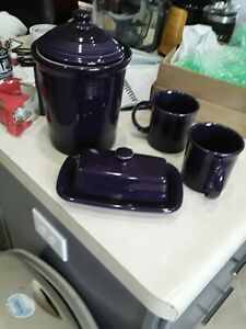 Dishes, Gorgeous Purple Canister, 2cups, Butter dish..perfect condition, no mark