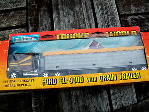 """ERTL #1454 """"TRUCKS OF THE WORLD"""" FORD CL-9000 TRUCK & GRAIN TRAILER, USED COND."""