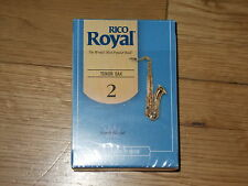Rico Royal Tenor sax reeds 2.0 box of 10 open switched to synthetic clearing out