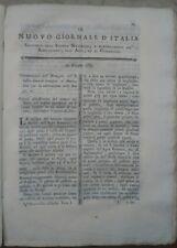1789 RIVISTA NUOVO GIORNALE D'ITALIA RAPE MONTECCHIO EMILIA AGRICOLTURA DALMAZIA