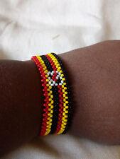 Masai/maasai/masaai beaded Uganda flag bracelet