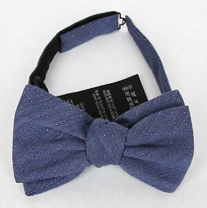 New Gucci Wool Silk Periwinkle Bow Tie w/Colorful Dotted Pattern 388173 4500