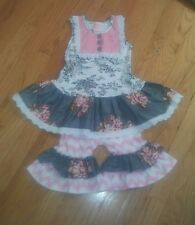 Giggle Moon Size 3 Outfit. Top Dress And Capri Pants. Ruffle.Cute!