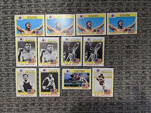 1983 Topps Greatest Olympians 13 Card Lot- Cassius Clay Joe Frazier Jim Thorpe