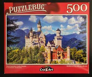 Puzzlebug Neuschwanstein Castle Jigsaw Puzzle 500-Piece SAME-DAY FREE SHIP