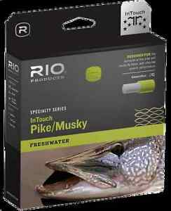 RIO InTouch Pike/Musky Floating Fly Line - WF8F 8wt - Moss/Yellow