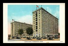 DR JIM STAMPS US POSTCARD CURTIS HOTEL MINNEAPOLIS MINNESOTA ANTIQUE CARS