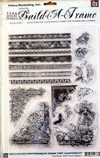 "Rare Vintage Prima / IOD Decor  / Scrapbooking Clear Stamps  "" BUILD A FRAME  """