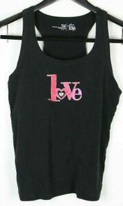 LOVE IS Girls' Racer Back Tank Top Black Size M (8-10)