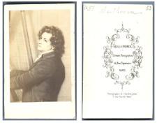 Beethoven vintage carte de visite, CDV Ludwig van Beethoven (prononcé en alleman