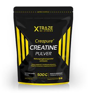 (€27,94/kg)Kreatin Monohydrat Pulver mit Creapure® vegan, 500 g Creatin Creatine