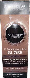 John Frieda Color Refreshing Gloss Cool Brunettes Brown Hair Salon Treatment