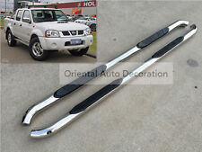 3'' Stainless steel Side Steps/BAR Running Board For Navara D22 Dual Cab 97-15