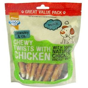 GoodBoy Pawsley Chewy Twists With Chicken Dog Treat 320g