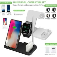 4in1 Qi Wireless Charger Station Dock For Apple Watch/iPhone 11 Pro/Earphone/Pen