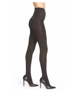Hue Women Blackout Tights Style tech Opaque Black Size 2 5477