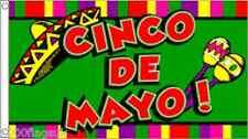 Mexico Cinco de Mayo 5'x3' Flag
