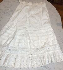Vintage Eyelet Underskirt Antique Childs