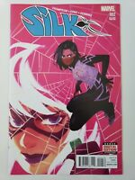 SILK #2 (2016) MARVEL COMICS 2ND PRINT VARIANT COVER ART! BLACK CAT! NM